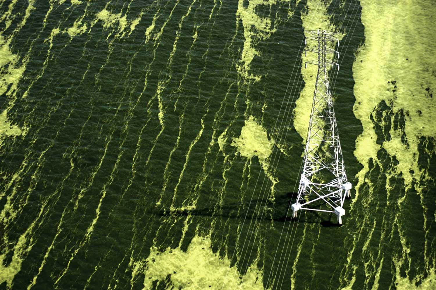 Oil wells across Maracaibo's lake , center of Venezuela´s petroleum industry - Bloomberg Markets USA.