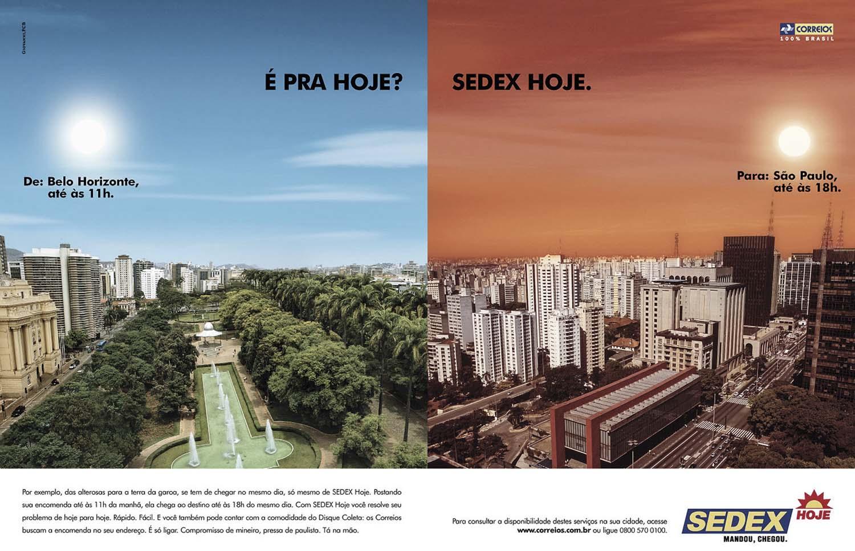 AD CAMPAIGN SEDEX, Agency FCB.