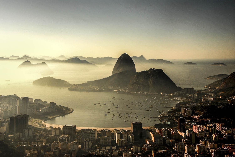 Vista da baía da Guanabara, no Rio de Janeiro.