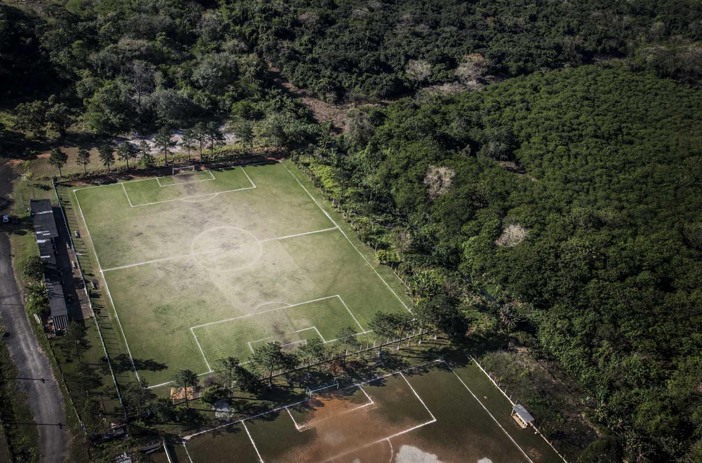 Campo de futebol em São Paulo.
