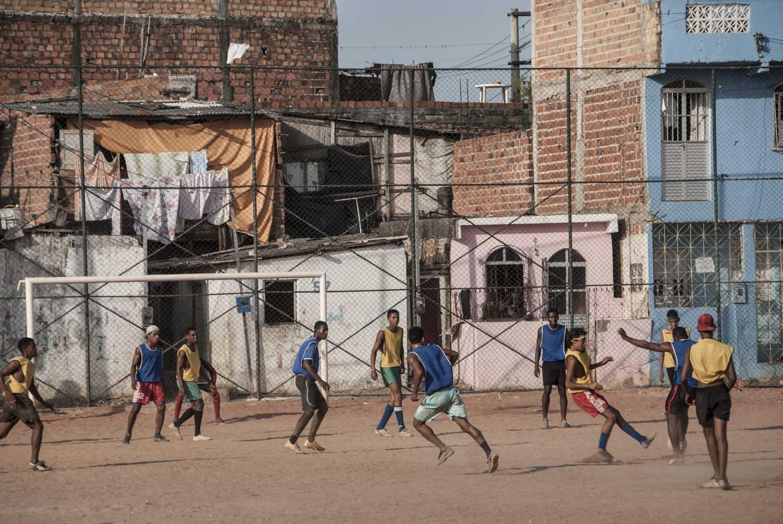Soccer game, suburban area, Salvador, Bahia.
