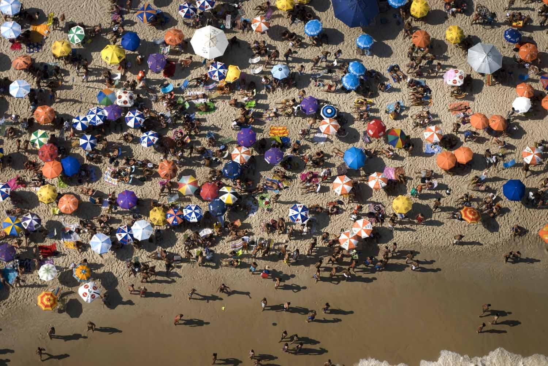 Copacabana's beach, Rio de Janeiro.