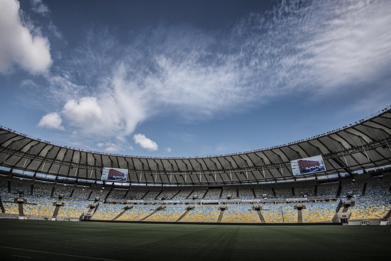 Estádio Mario Filho conhecido como Estádio do Maracanã, no Rio de Janeiro.