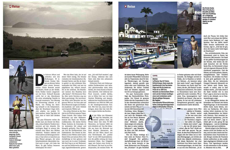 STERN Magazine,  Rio santos Road essay.
