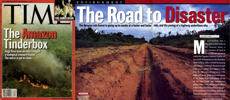 Revista Time, reportagem de capa sobre o desastre Ambiental na Amazônia.