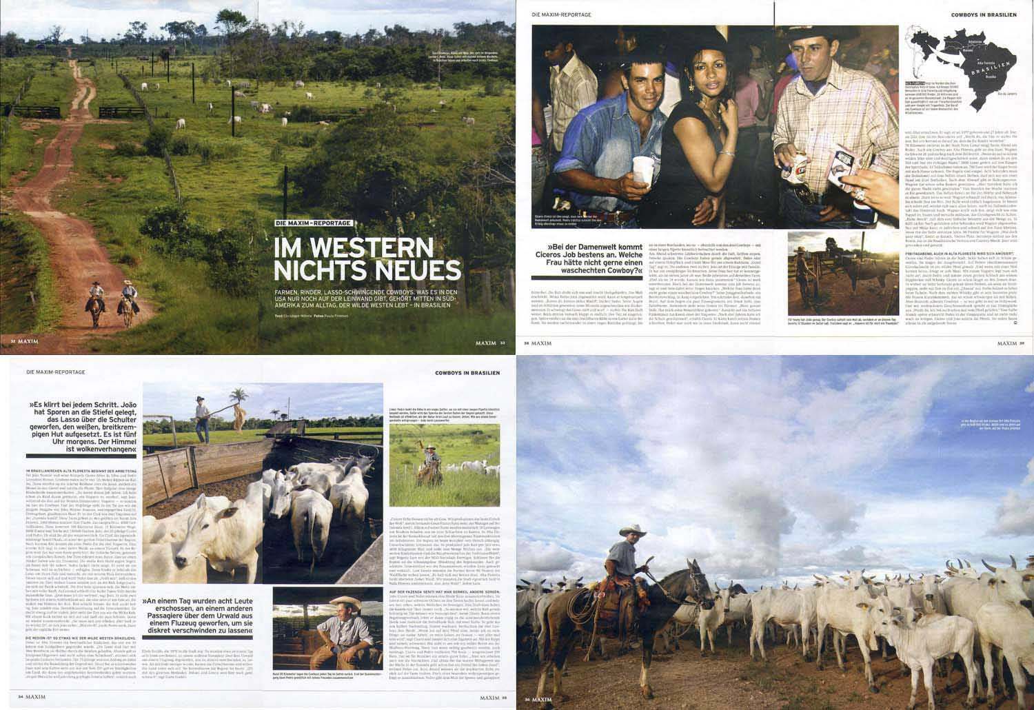 Maxxim Magazine, Essay on Cowboys in Brazil.