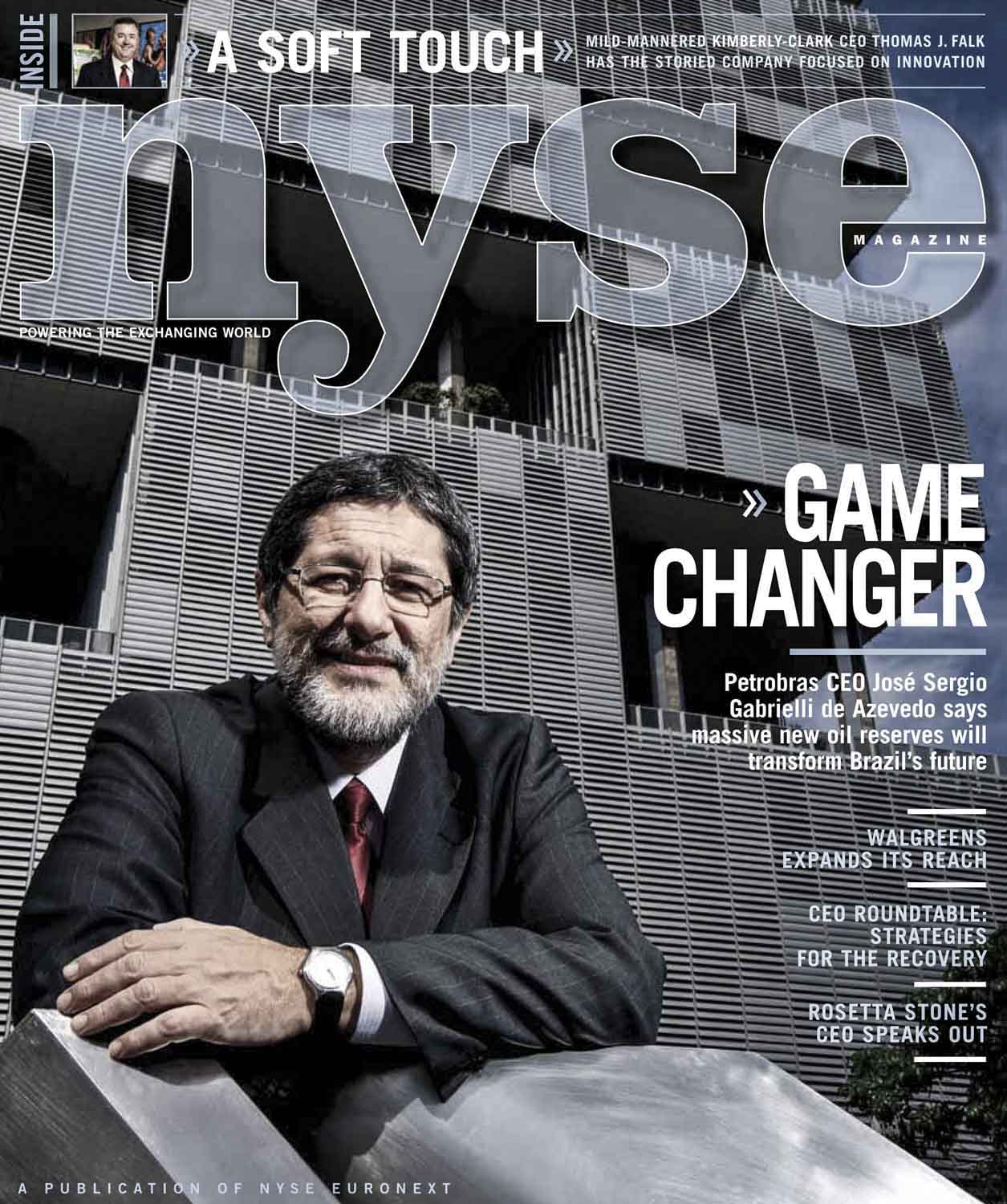 Revista New York Stock Exchange, presidente da Petrobras, José Sergio Gabrielli.