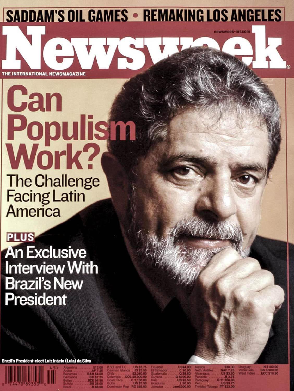 "Newsweek Magazine, Luis Inacio ""Lula""da Silva, Brazil's President."
