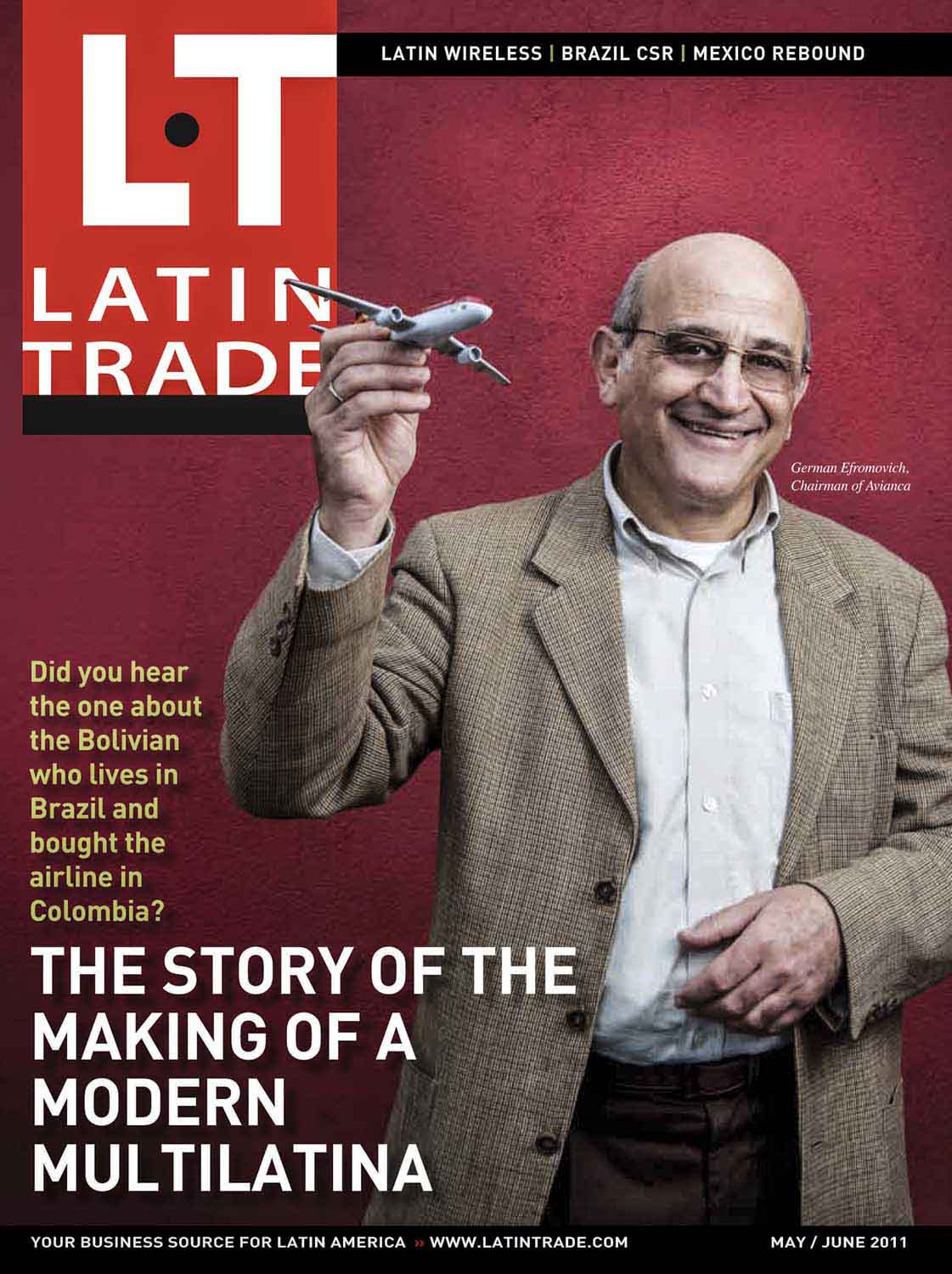 Revista Latin Trade, Efranovich, alemão, CEO da Avianca .