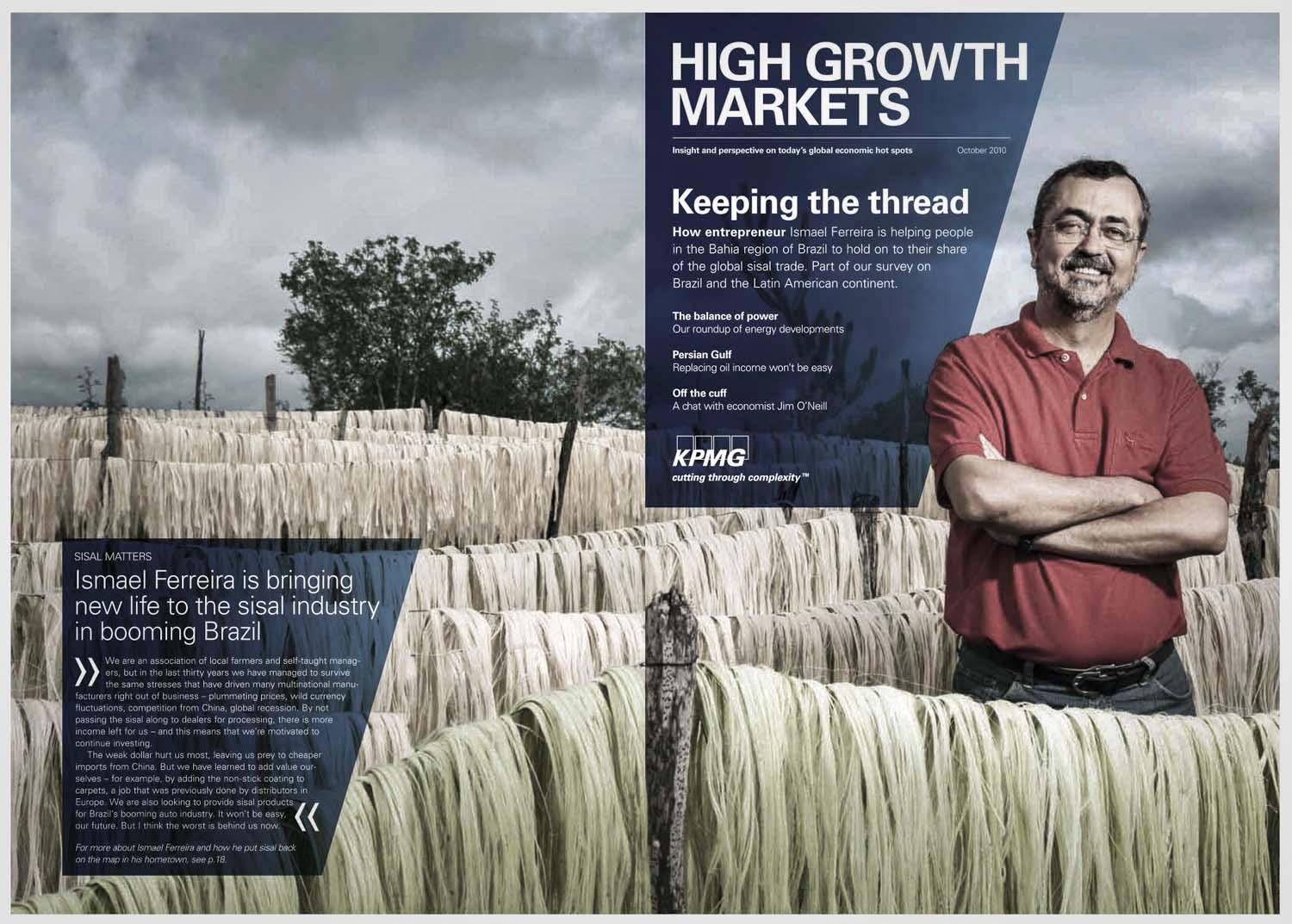 KPMG Magazine, story on Sisal Brazil