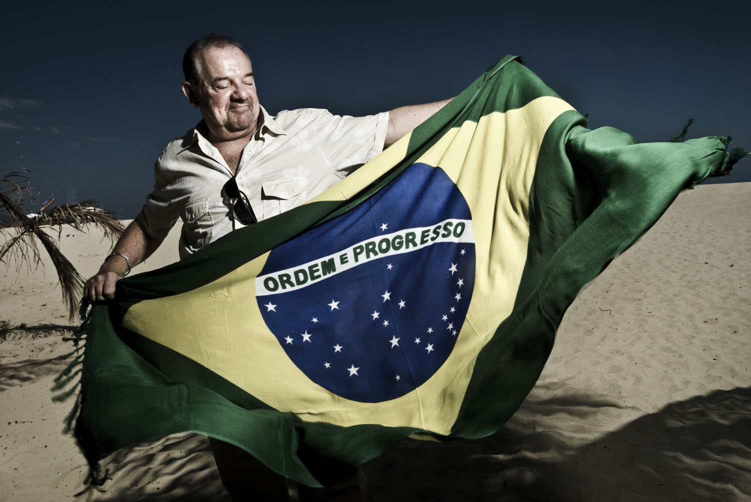 Joe de Cola, film producer,Copacabana´s beach.